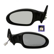2005 - 2006 Nissan Altima Power Gloss Black Mirror Pair
