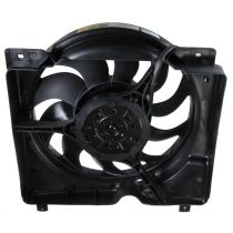 1997 - 2001 Jeep Cherokee Radiator Cooling Fan Assembly for L6 4.0L With 10 Blade Fan (excluding Right Hand Drive Models)