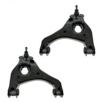 2006 Chevy Silverado 1500 2WD Crew Cab Front Lower Control Arm with Ball Joint Pair for Models with 5-3/4 Foot Bed & for 6 Lug Wheels (excluding RPO Code B2E) (excluding V8 6.0L)