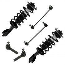 2005 - 2006 Chevy Equinox Front Suspension Kit with Front Strut And Spring Assembly Outer Tie Rod Sway Bar Link (Set of 6)