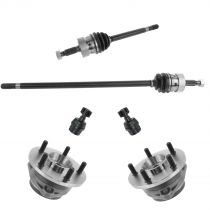 1993 - 1998 Jeep Grand Cherokee Front Axle Hub Assembly Lower Ball Joint Steering & Suspension Kit (Set of 6)