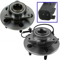 2006 - 2008 Dodge Ram 1500 Truck Front Wheel Bearing & Hub Assembly for Models with Speed Sensor & Rear Wheel ABS Pair (excluding Mega Cab)