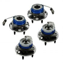 2003 - 2005 Pontiac Aztek AWD Front & Rear Wheel Bearing & Hub Assembly (Set of 4) for Models with ABS