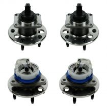 1997 - 2005 Buick Park Avenue Front & Rear Wheel Bearing & Hub Assembly (Set of 4) for Models with ABS
