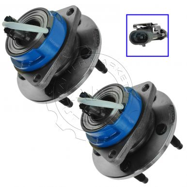2001 Buick Park Avenue Front Wheel Bearing & Hub Assembly with Stainless Steel Sensor Wire Clip for Models with ABS Pair