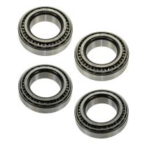 1980 - 1982 Ford F250 Truck 4WD Front & Rear Wheel Hub Bearing (Set of 4) for Models with Dana 44 Axle (Timken)