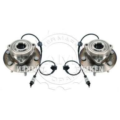2008 - 2013 Chevy Silverado 1500 4WD Front Wheel Bearing & Hub Assembly Pair (Timken)