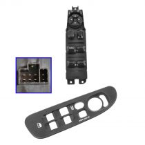 2003 - 2005 Dodge Ram 2500 Truck Master Power Window Switch & Dark Gray Bezel Front Driver Side (excluding Regular Cab)
