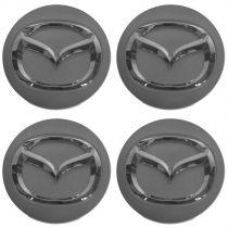 2009 - 2014 Mazda Miata MX-5 Chrome & Silver Wheel Center Cap (Set of 4) Mazda BBM2-37-190