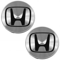 2003 - 2007 Honda Accord Brushed Aluminum Wheel Center Cap Pair Honda 44732S0XA01