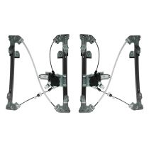 2005 - 2008 Ford F150 Truck Crew Cab Power Window Regulator with Motor Rear Pair (Motorcraft)