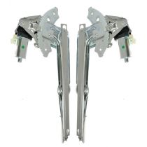 2002 - 2008 Dodge Ram 1500 Truck Quad Cab Power Window Regulator with Motor Rear Pair