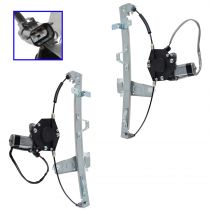 1999 - 2000 Jeep Grand Cherokee Window Regulator Front Pair Power with Motor