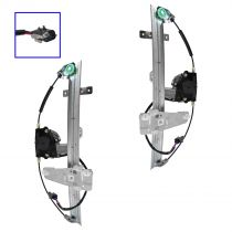 2001 - 2004 Jeep Grand Cherokee Power Window Regulator with Motor Front Pair (High Quality)