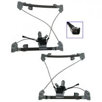 2005 - 2008 Ford F150 Truck Power Window Regulator with Motor for Super Cab Models Front Pair (Motorcraft)