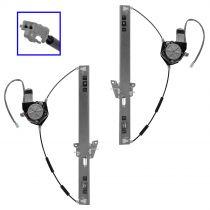 2000 - 2006 Mazda MPV Power Window Regulator with Motor Front Pair