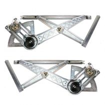 2001 - 2003 Ford F150 Truck Super Cab Manual Window Regulator Pair