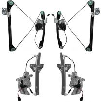 1999 - 2005 Pontiac Grand Am 4 Door Power Window Regulator with Motor (Set of 4) (High Quality)