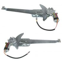 1981 - 1996 Ford F150 Truck Front Power Window Regulator with Motor Pair
