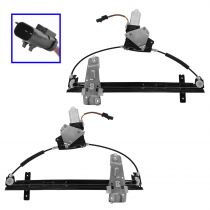 1999 - 2000 Jeep Grand Cherokee Power Window Regulator with Motor Front Pair