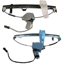 2001 - 2004 Jeep Grand Cherokee Power Window Regulator with Motor & Mounting Plate Front Pair (Dorman)