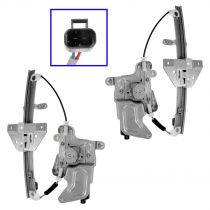 1999 - 2005 Pontiac Grand Am 4 Door Power Window Regulator with Motor Rear Pair (High Quality)