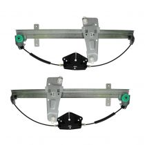 2001 - 2004 Jeep Grand Cherokee Power Window Regulator (without Motor) Front Pair (High Quality)