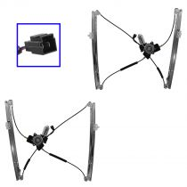 1996 - 2000 Dodge Caravan Power Window Regulator with Motor Front Pair