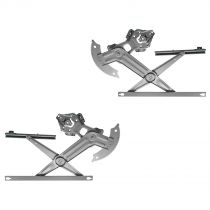 2002 - 2008 Dodge Ram 1500 Truck Power Window Regulator (without Motor) Front Pair