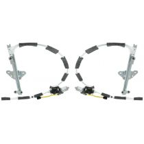 1997 - 2001 Jeep Cherokee Power Window Regulator with Motor Front Pair