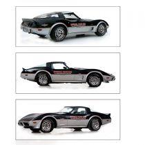 1978 Chevy Corvette Silver & Red Pace Car Stripe Kit